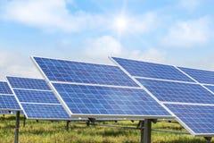Solar cells alternative renewable energy from the sun Stock Photography