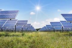 Solar cells alternative renewable energy from the sun Stock Image