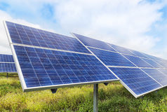 Solar cells alternative renewable energy from the sun Royalty Free Stock Photography
