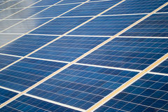 Solar cells. Solar cell panels producing clean electricity Stock Images