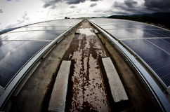 Solar cells roof Royalty Free Stock Photography
