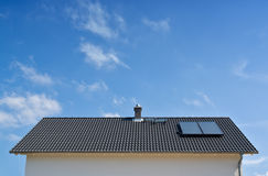 Solar cells on roof Stock Photography