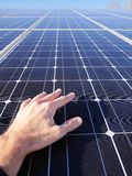 Solar cells roof Royalty Free Stock Photos