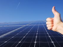 Solar cells roof Royalty Free Stock Image