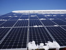 Solar cells roof Stock Image