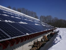 Solar cells roof Stock Photos