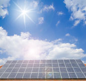Solar cells on the roof Stock Images