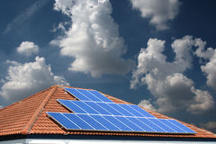 Solar cells on the roof. Stock Photography