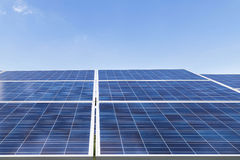 Solar cells in solar power station Royalty Free Stock Photo