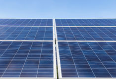 Solar cells in solar power station Stock Image