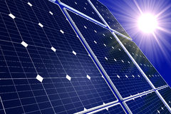 Solar Cells and Sun Stock Photos