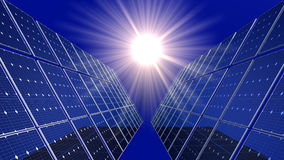 Solar Cells and Sun Royalty Free Stock Photography