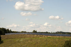 Solar cells to generate energy through solar energy Royalty Free Stock Photos