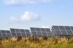 Solar cells to generate energy through solar energy Stock Image