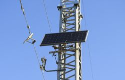 Solar cells to provide power transmission antenna.  Stock Photography