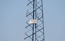 Solar cells to provide power transmission antenna Stock Photography