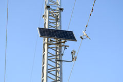 Solar cells to provide power transmission antenna.  Stock Image