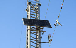 Solar cells to provide power transmission antenna Stock Images