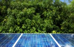 Solar cells. Were installed on the home alternative battery beautiful blue clean color concept conservation ecology electricity energy environment environmental royalty free stock photography