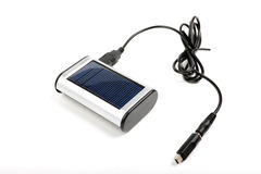 Solar charger with cable. Royalty Free Stock Photos