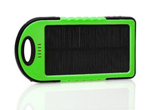 Solar charger. Isolated on white Stock Photo