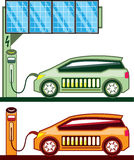 Solar Charging Station Stock Photo