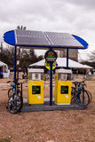 Solar Charging Station. A solar charging station to use at SXSW Create on March 9, 2013 in Austin, Texas Stock Image