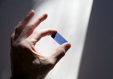 Solar chip in sun beam Royalty Free Stock Images