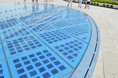 Solar circle in zadar croatia Royalty Free Stock Image