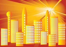 Solar City. Stock Photos