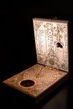 Solar clock. Classic solar clock including a compass Royalty Free Stock Image