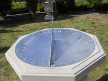 Solar clock. Made of metal solar clock in garden Royalty Free Stock Photo