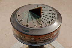 Solar clock showing time four o'clock Stock Photo