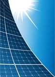 Solar collector background Stock Photo