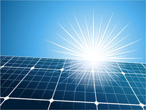 Solar collector background Stock Image