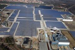 Solar collector field Stock Photos