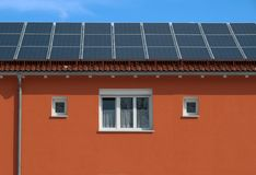 Solar collectors Stock Photo
