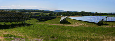 Solar collectors royalty free stock photo