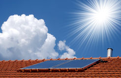 Solar collectors Stock Image