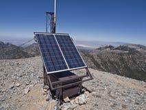 Solar Communication Station Stock Image