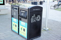 Solar Compactors stock photography