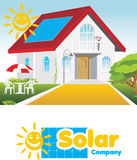 Solar company. Concept and logo Stock Photography