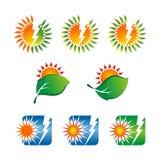 Solar concept logo Royalty Free Stock Photography