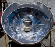 Solar cooker in the Himalaya mountains Royalty Free Stock Image