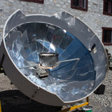 Solar cooker in the Himalaya mountains Royalty Free Stock Images