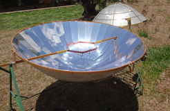Solar cooking tool. Summer in green paradise country costa rica Stock Image