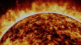 Solar cosmic sun Royalty Free Stock Images