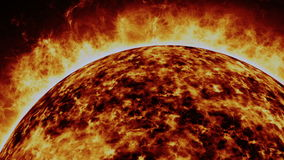 Solar cosmic sun Royalty Free Stock Photography