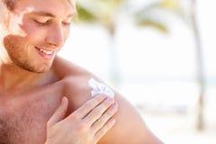 Solar cream / sunscreen Stock Images
