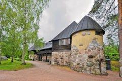 Solar de Hvittrask, Kirkkonummi, Finlandia Restaurante e o Café imagem de stock